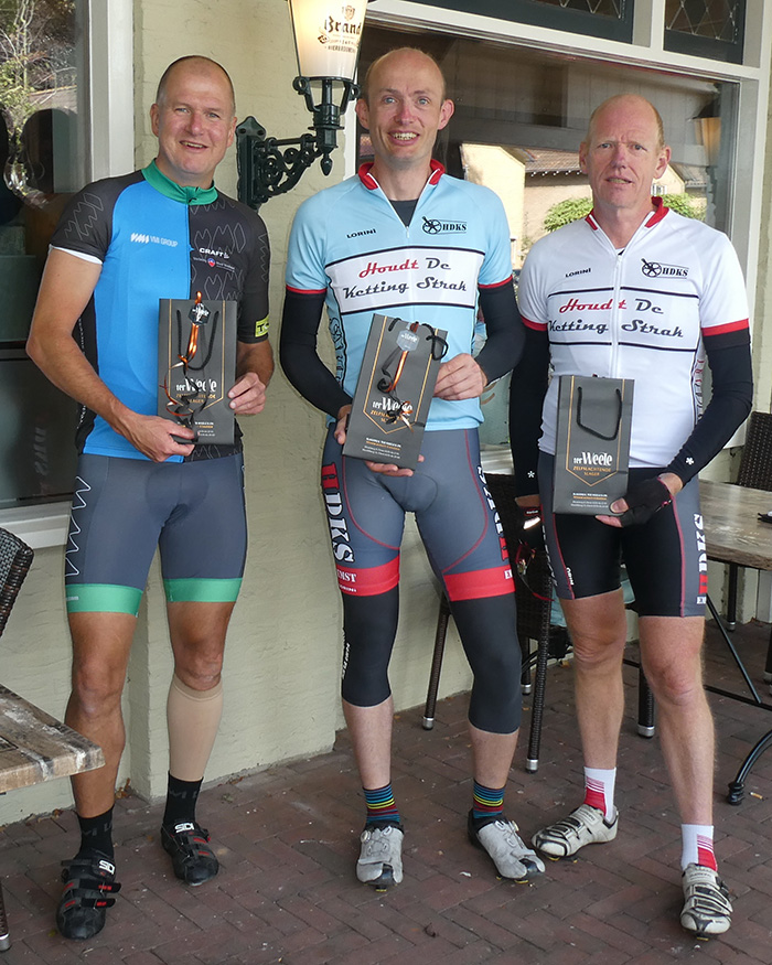 foto winnaars Bart Kamphuis rit 8 september 2019